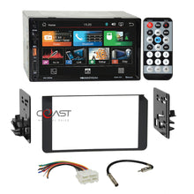"Load image into Gallery viewer, Soundstream 7"" USB Bluetooth Stereo Dash Kit Harness for 95+ GMC Cadillac Chevy"