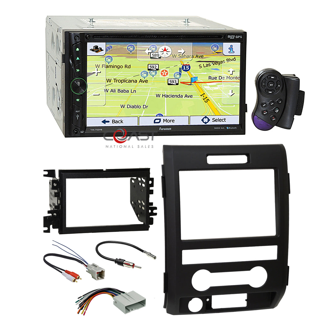 Farenheit DVD GPS Android Phonelink Stereo Dash Kit Harness for 09+ Ford F-150