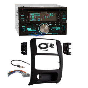 Kenwood CD USB Sirius Xm Stereo 2 Din Dash Kit Harness for 2002-07 Jeep Liberty
