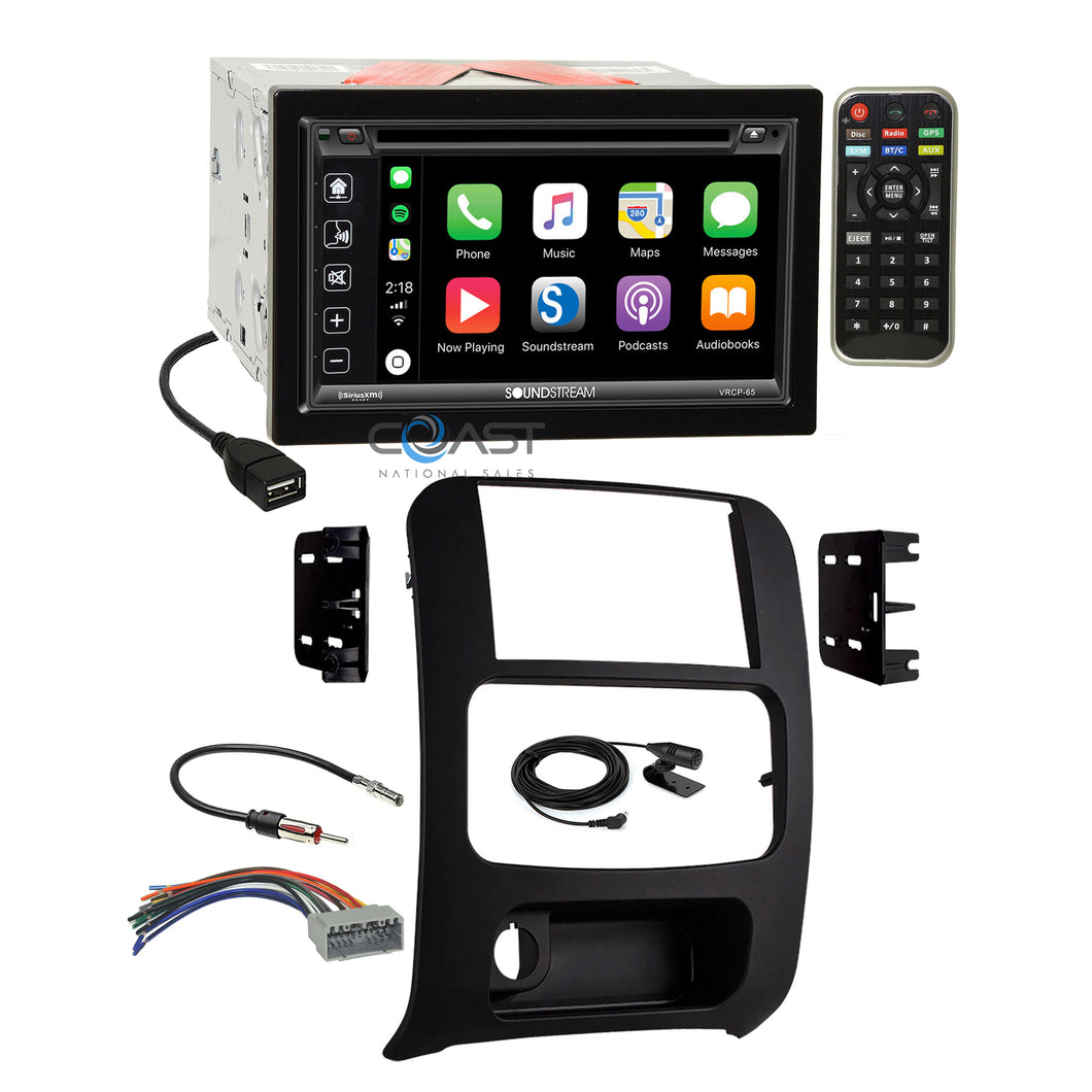 Soundstream Carplay Phonelink Stereo Dash Kit Harness for 2002-07 Jeep Liberty