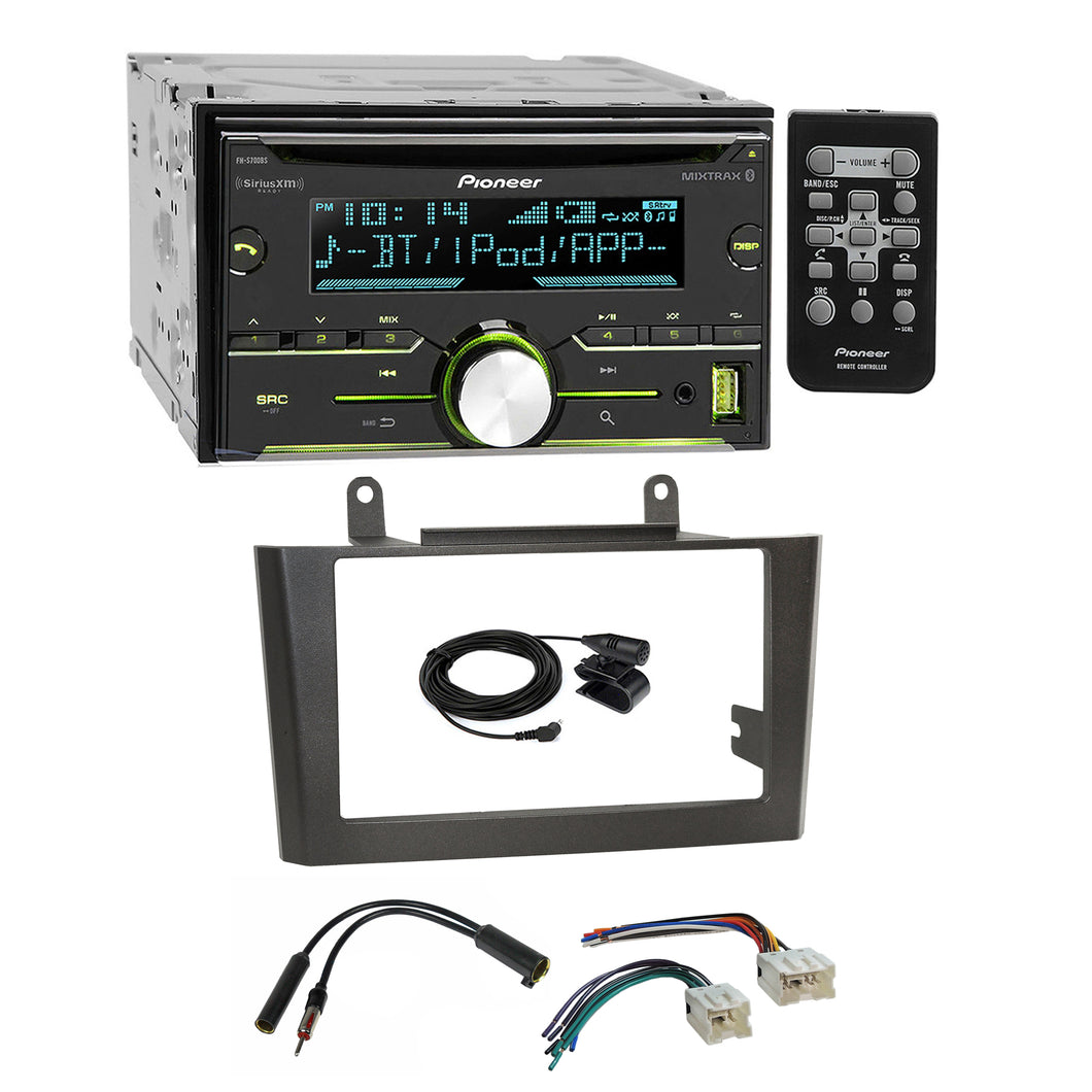 Pioneer CD USB BT Sirius Stereo Gray Dash Kit Harness for 2000-03 Nissan Maxima