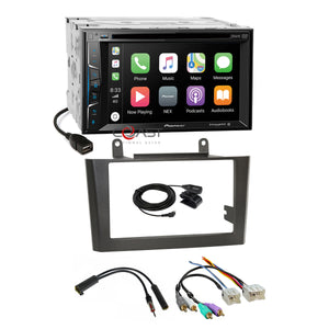 Pioneer DVD BT Carplay Stereo Gray Dash Kit Amp Harness for 00-03 Nissan Maxima