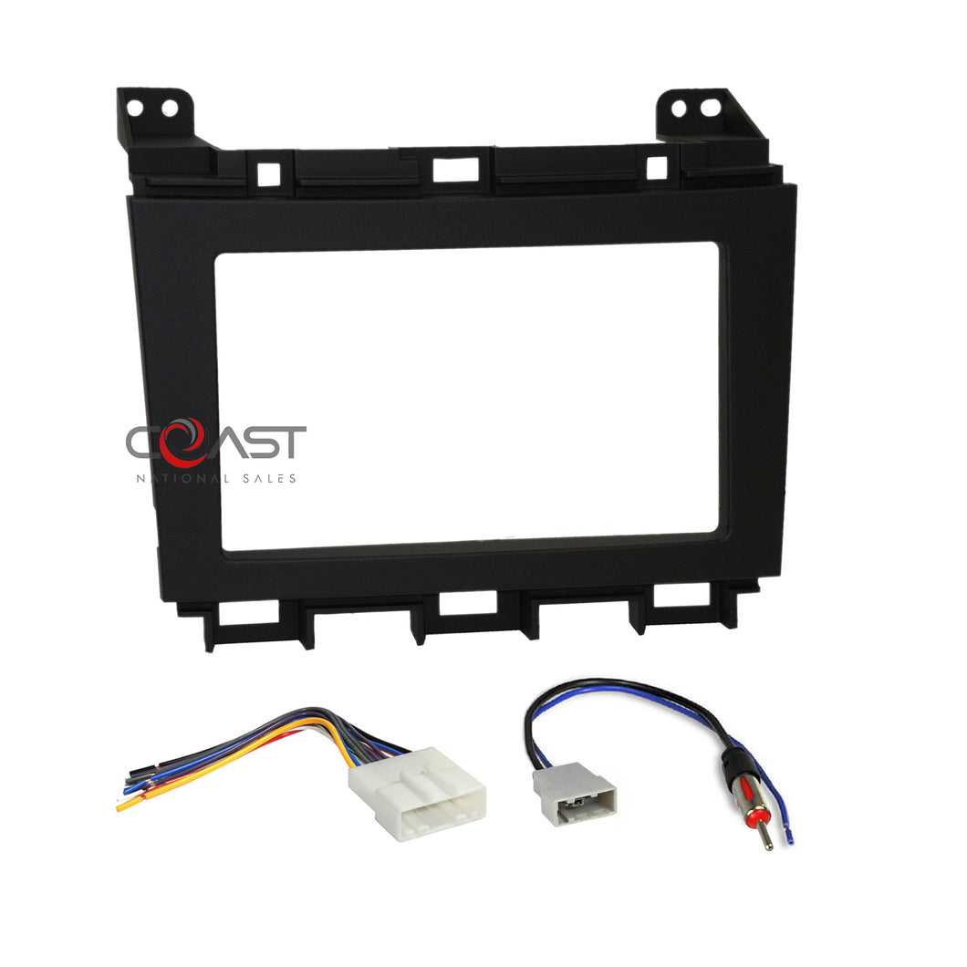 Car Radio Stereo Double Din Dash Kit Wiring Harness for 2009-up Nissan Maxima