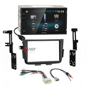 Kenwood USB Bluetooth Android Stereo Dash Kit Amp Harness for 2001-06 Acura MDX