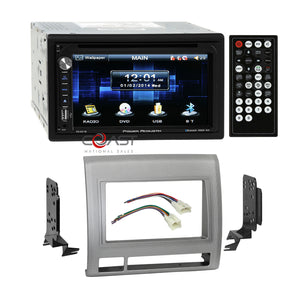 Power Acoustik DVD Bluetooth Stereo Sil Dash Kit Harness for 05+ Toyota Tacoma