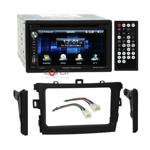 Power Acoustik DVD Bluetooth Stereo Dash Kit Harness for 09-13 Toyota Corolla
