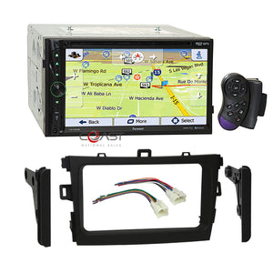 Farenheit DVD USB Bluetooth GPS Radio Dash Kit Harness for 09-13 Toyota Corolla