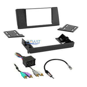 Metra Stereo Double DIN Dash Kit Amp Harness Antenna for 1997-2003 BMW 5 Series