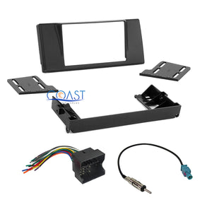 Metra Car Radio Stereo 2 DIN Dash Kit Harness Antenna for 2003-2005 BMW 5 Series