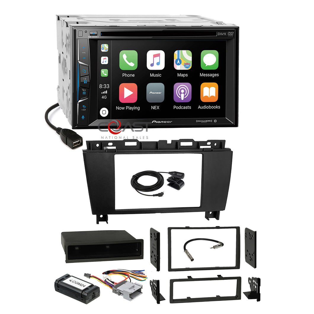 Pioneer BT Carplay Stereo Dash Kit Standard Bose Harness for 05+ Buick Lacrosse