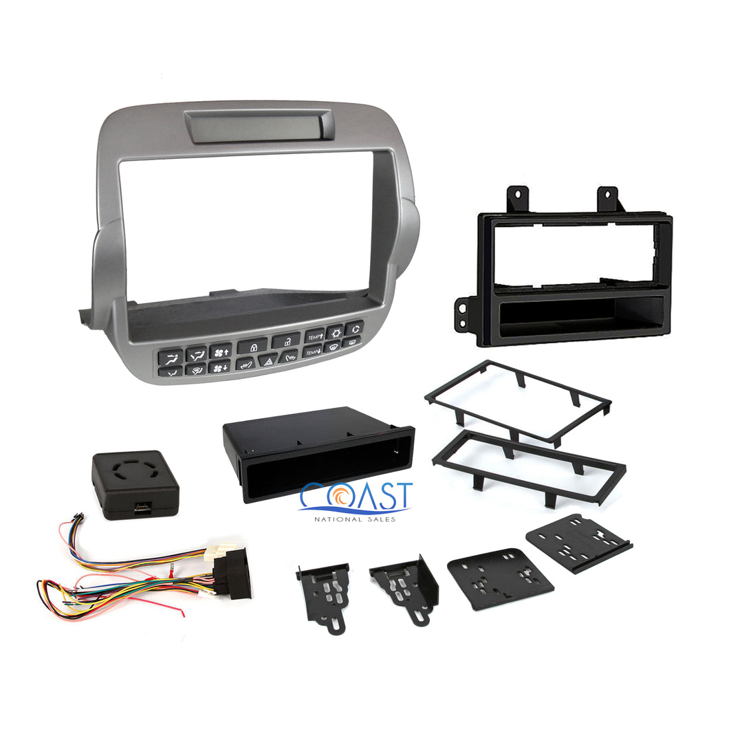 Metra 99-3010S-LC Single Double DIN Dash Kit + Interface for 2010 Chevy Camaro