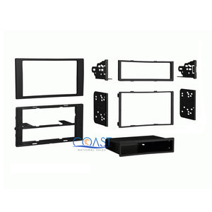 Car Stereo Radio Black Single Double Din Dash Kit for 2010-up Ford Transit