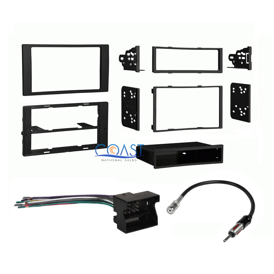 Car Stereo Single Double Din Dash Kit Harness Antenna for 2010-11 Ford Transit