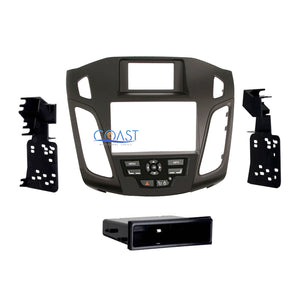 Car Stereo Radio Black Single Double Din Dash Kit for 2012-Up Ford Focus