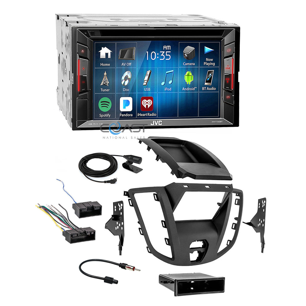 JVC 2018 DVD Bluetooth Stereo 2 Din Dash Kit Harness for 2015-16 Ford Transit