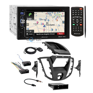 Planet Audio GPS Bluetooth Stereo 2Din Dash Kit Harness for 15-16 Ford Transit