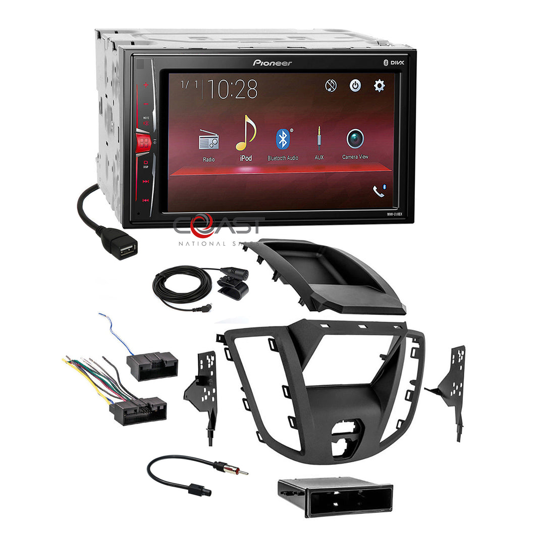 Pioneer MP3 USB BT Camera Ready Stereo Dash Kit Harness for 15-up Ford Transit
