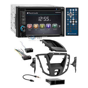 Planet Audio DVD Bluetooth Stereo 2Din Dash Kit Harness for 15-16 Ford Transit