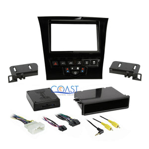 Car Stereo Gloss Single Double Din Dash Kit Harness for 2011 - Up Chrysler 300