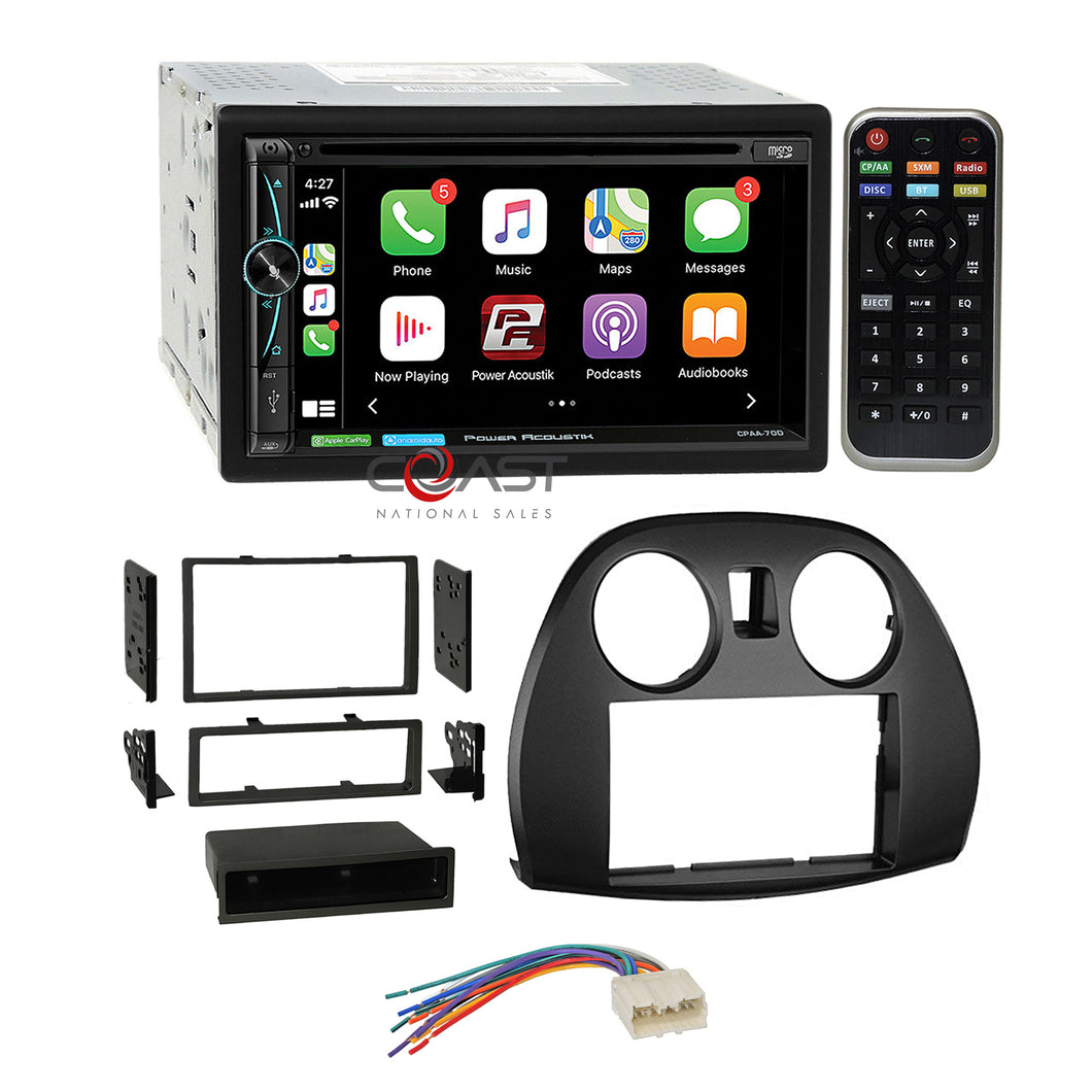 Power Acoustik DVD Carplay Stereo Dash Kit Harness for 06-12 Mitsubishi Eclipse