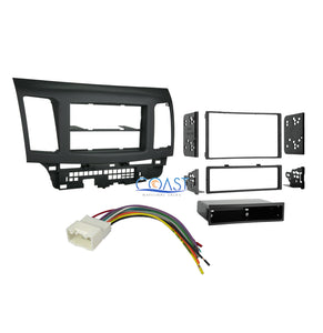 Car Stereo Single Double Din Dash Kit harness for 2007-2013 Mitsubishi Lancer