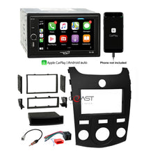 Load image into Gallery viewer, Concept USB MP3 Bluetooth Carplay Stereo Dash Kit Harness for 2010-13 Kia Forte