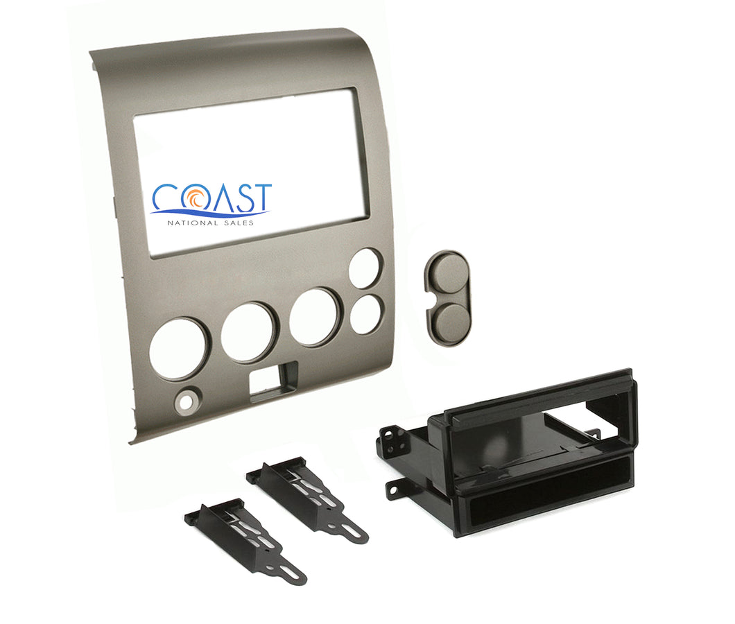 Car Radio Stereo Dash Kit for 2004-2007 Nissan Armada Titan w/o Climate Control