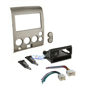 Car Stereo Radio Dash Kit Harness for 2004-2007 Nissan Armada Titan w/o Climate
