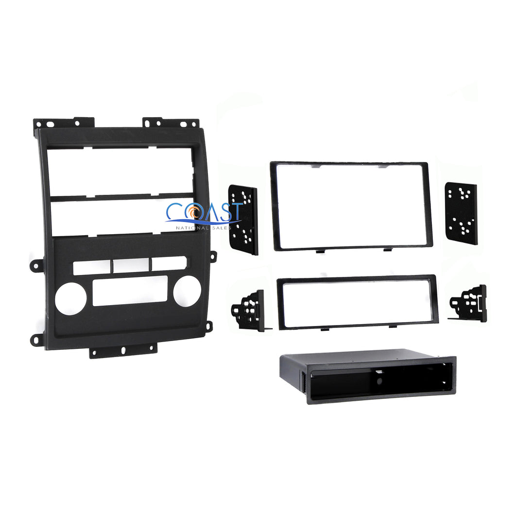 Car Stereo Double DIN Dash Kit for 2009 Nissan Frontier Xterra w/ Tech option