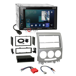 Pioneer DVD USB Sirius Camera Input Stereo Dash Kit Harness for 2006-10 Mazda 5