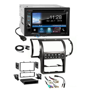 Kenwood DVD Sirius Waze Spotify Stereo Dash Kit Harness for 03-04 Infiniti G35