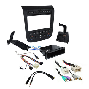 Single Double Din Black Dash Kit Harness Antenna for 2003-2007 Nissan Murano