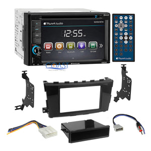 Planet Audio DVD USB Stereo 2Din Dash Kit Harness for 2013-14 Nissan Altima