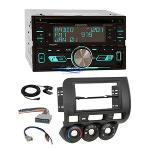 Kenwood USB Sirius Bluetooth 2Din Stereo Dash Kit Harness for 2007-08 Honda Fit