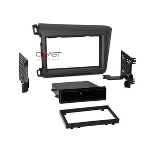 Car Radio Stereo Single Double Din Dash Kit Amp Harness for 2012 Honda Civic