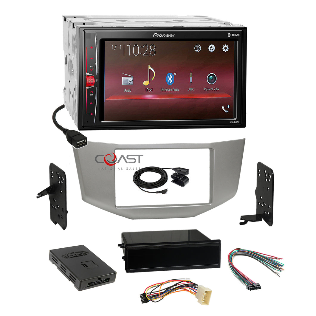 Pioneer USB Camera Input Stereo Silver Dash Kit Amp Harness for 04-09 Lexus RX