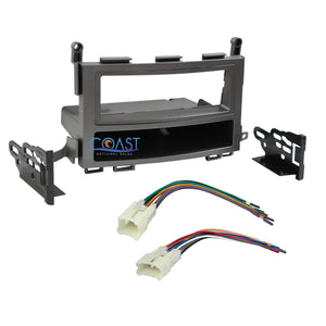 Single DIN Car Radio Stereo Dash Kit Wiring Harness for 2009-2013 Toyota Venza