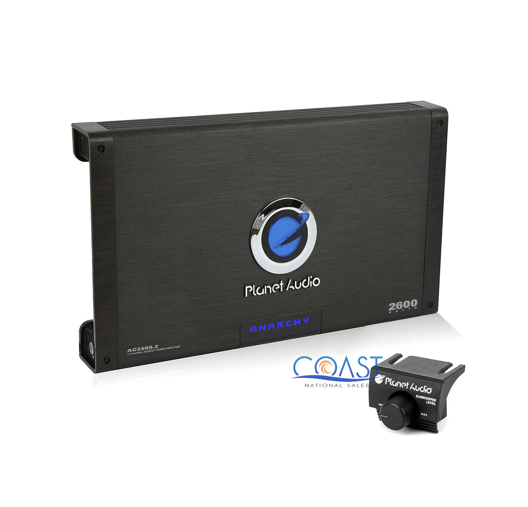 Planet Audio 2600W Anarchy 2-Channel MOSFET Car Power Amplifier New AC2600.2
