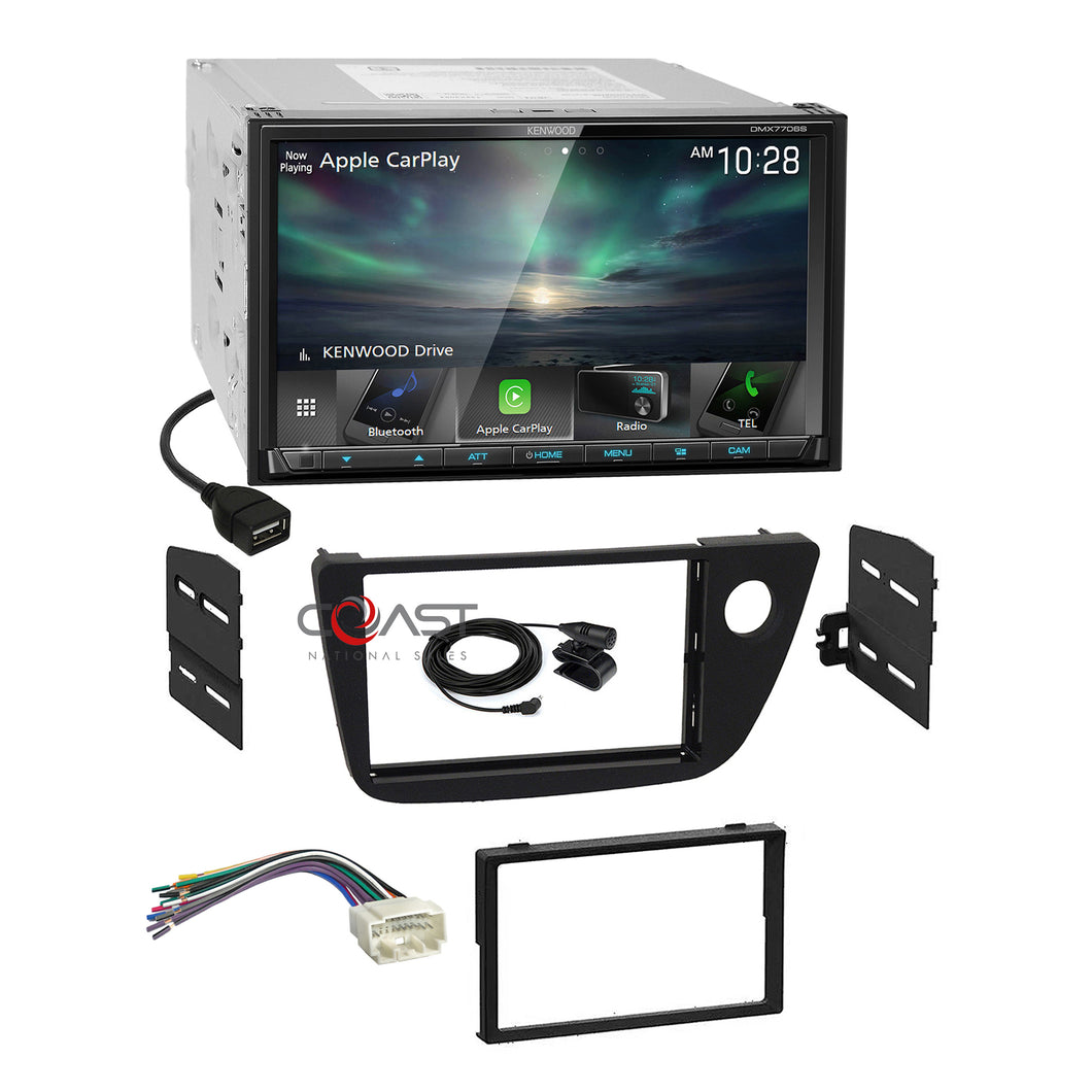 Kenwood Sirius Carplay Android Auto Stereo Dash Kit Harness for 02-06 Acura RSX