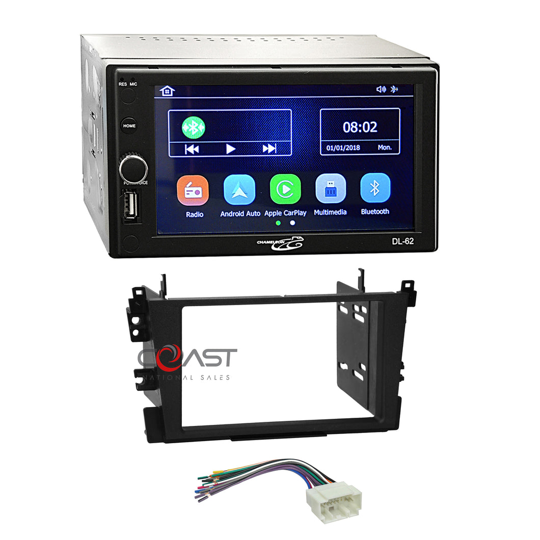 Concept DVD USB Bluetooth Carplay Stereo Dash Kit Harness for 99-03 Acura TL CL