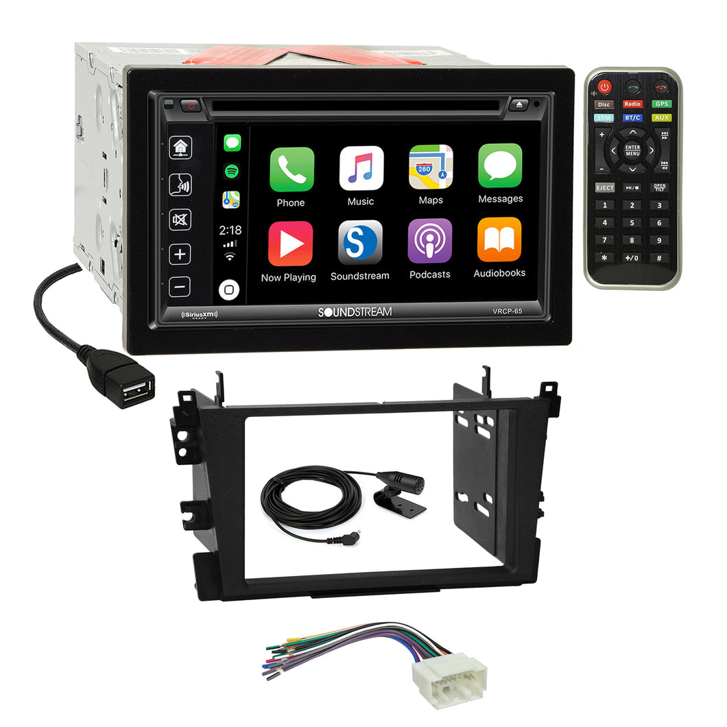 Soundstream 2018 DVD Carplay Stereo 2Din Dash Kit Harness for 99-03 Acura TL CL