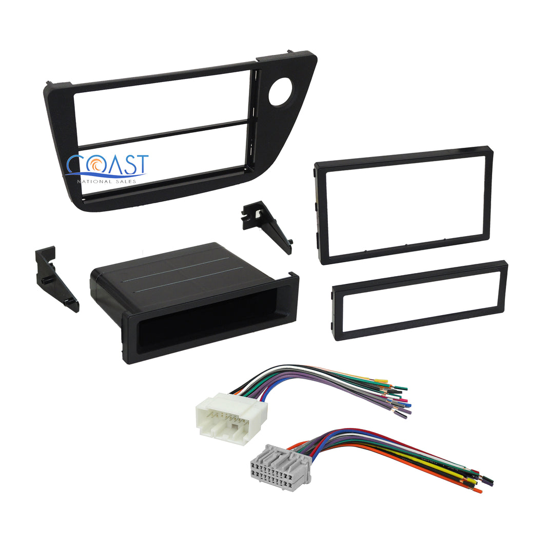 Car Stereo Single Double DIN Dash Kit Harness Combo for 2002-2006 Acura RSX