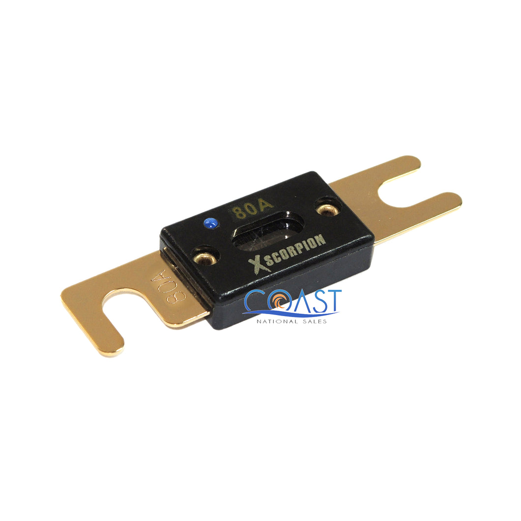Car Audio 80 Amp High-Temperature Gold-Plated ANL Fuse w/ Led Light Indicator