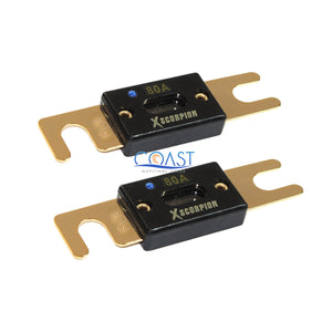 2X Car Audio 80 Amp High-Temperature Gold-Plated ANL Fuse w Led Light Indicator