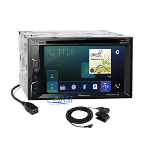 Pioneer 2018 DVD USB Stereo 2Din Dash Kit Onstar Harness for 2000+ GM Chevrolet