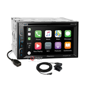Pioneer DVD USB Sirius Carplay Stereo Dash Kit Harness for 2010-12 Toyota Prius