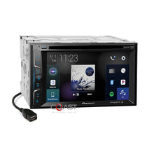 Load image into Gallery viewer, Pioneer DVD BT Carplay Stereo Dash Kit Amp SWC Harness for Chrysler Dodge Jeep