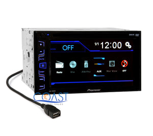 "Pioneer AVH-190DVD 6.2"" Touchscreen Double Din Car Radio MP3 DVD Audio Receiver"