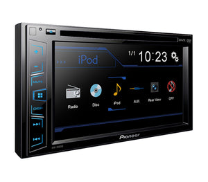 "Pioneer 6.2"" Touchscreen Double Din Car Radio MP3 DVD w/ Rearview Backup Camera"