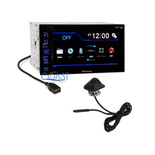 "Load image into Gallery viewer, Pioneer 6.2"" Touchscreen Double Din Car Radio MP3 DVD w/ Rearview Backup Camera"